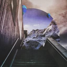 art surrealistgate snow surrealism freetoedit