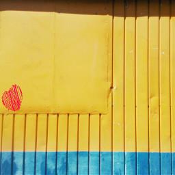 blue yellow minimal love urban