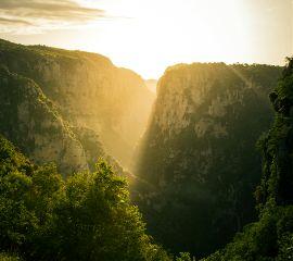 sunrise vikos canyon epirus greece