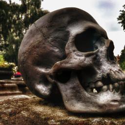 skull cemetery dark photography emotions