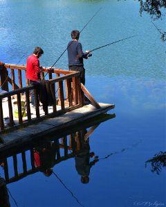 reflection mirorr lake nature hobby