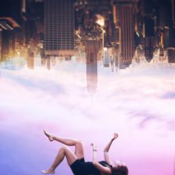dream city girl flying color
