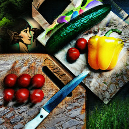 freetoedit collage colorful food lifestyle