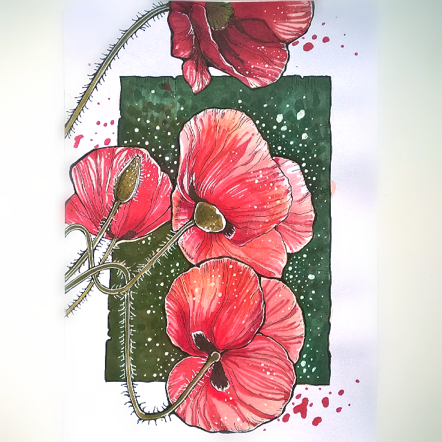 #FreeToEdit #poppy #summer #colorsplash #nature #flower #colorful #drawing #sketch #markers