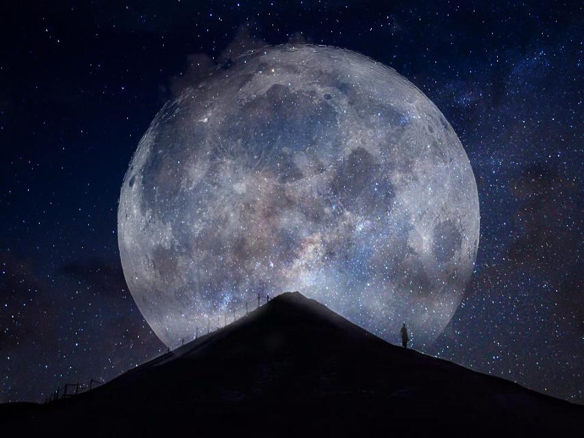 #FreeToEdit #art #moon #milkyway #ET