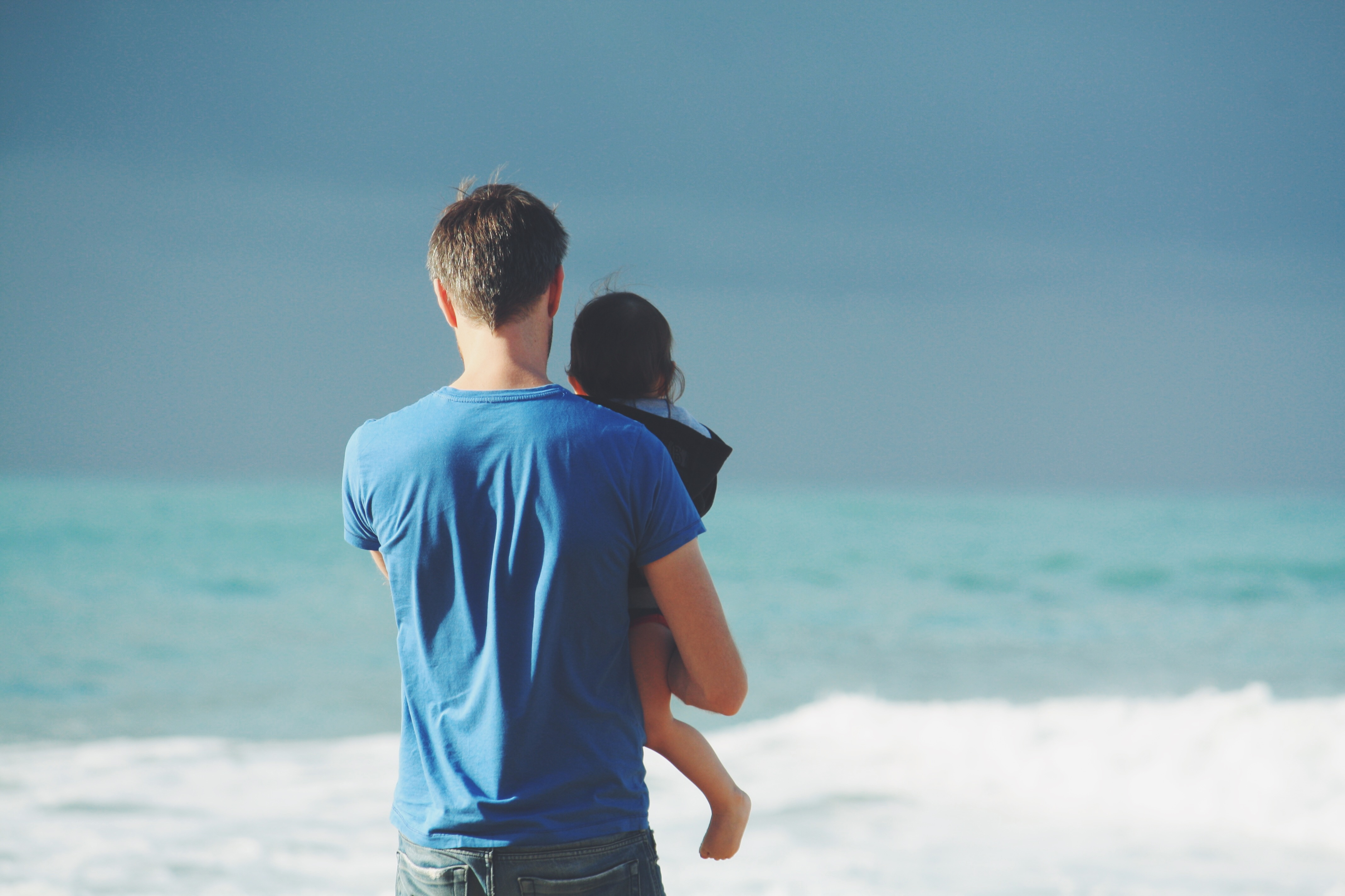 ~ Happy Father's Day! Create a cool Remix and send it to your dad. Courtesy of Unsplash (Public Domain)#FreeToEdit #FathersDay # sky #sea #man #child