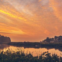 netherlands leeuwarden landscape farm sunrise