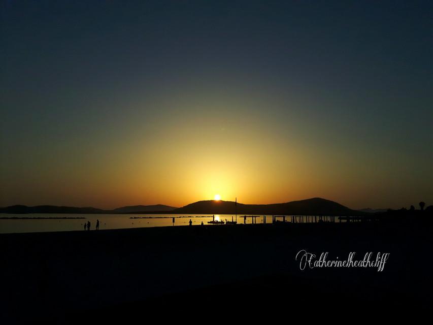 #sunset #travel #sun #sky #beach #summer #sardinia  #sardegna  #alghero  Good night my friends  ☺