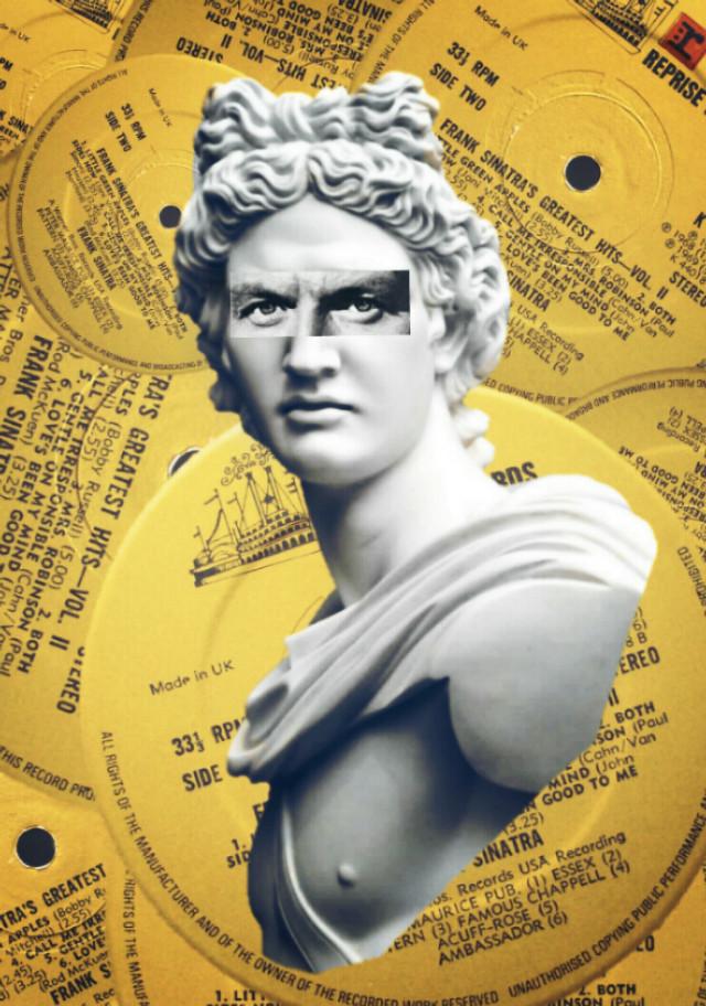 #collage #cutandpaste #digitalart #sinatra #statue  #remix