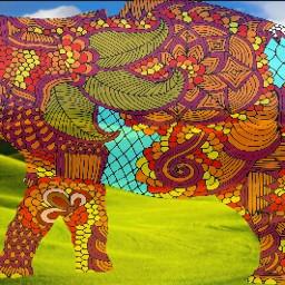 elephant nature grasslands art transparent