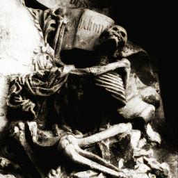 graveyard gothic monochrome blackandwhite skeleton