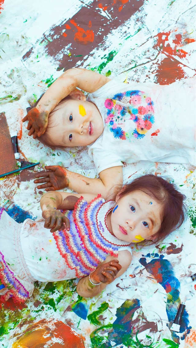 Playing with paint. #art #painting #cute #baby