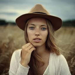 FreeToEdit portrait girl nature sky hat
