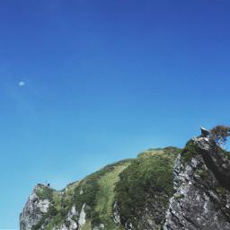 nature harfmoon sky mountain
