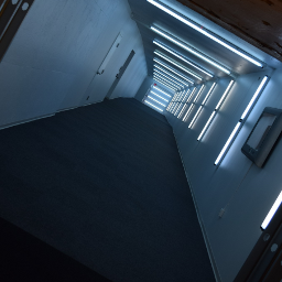 hallway lighting longhall underground tunnel freetoedit