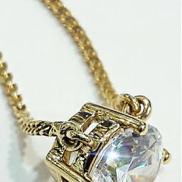 gold chain pendant zercon sparkling dpcjewelry freetoedit