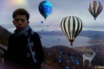 balloon photography people