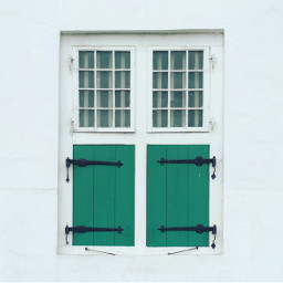 FreeToEdit window green white photography vintage old house