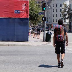 colormatch redandblue streetstyle photosfromthestreet
