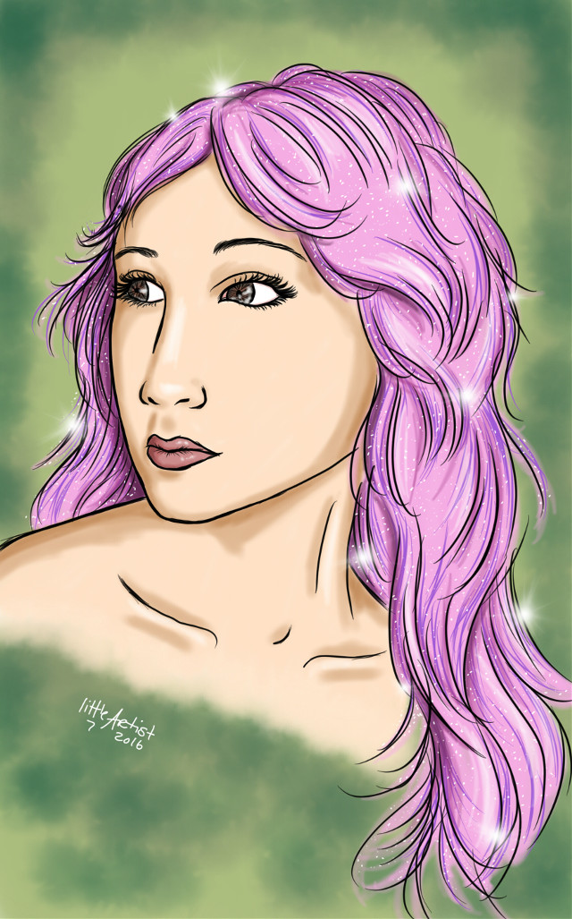 Asian girl #people #colorful #digitalart #sketchbookpro #painting #artist #art #drawing #portrait #woman #fashion  #FreeToEdit