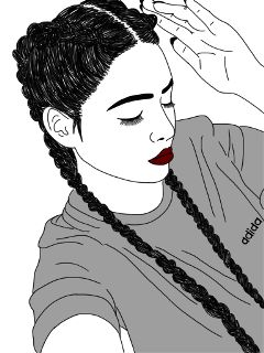girl sketch digitalart pencilart blackandwhite wdpoutlines freetoedit