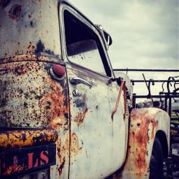 truck old rusty oklahoma rural