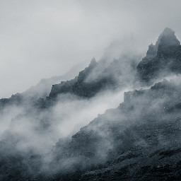 freetoedit mountain foggy art interesting