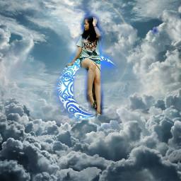 remixme remixmegalleries clouds woman madewithpicsart
