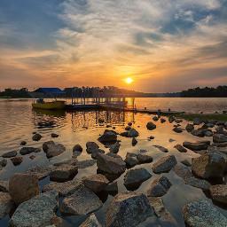 sunset sun rocks landscapephotography photooftheday