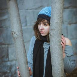 portrait girl cute look monochrome