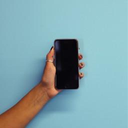 freetoedit blue background iphone hand