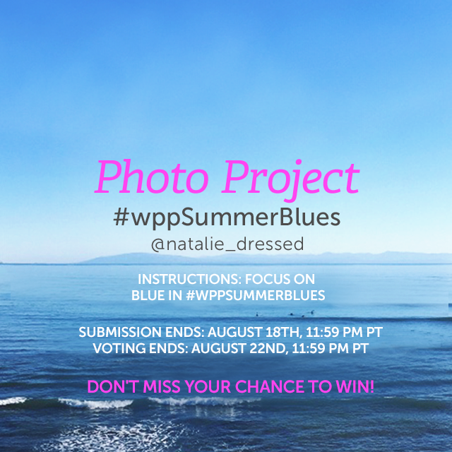 While summer evokes hot reds and warm oranges, in the heat of the season, we all scramble for the cool blues. Focus on the color blue for our Weekly Photo Project. Everything from swimming pools to new jeans is fair game, but be sure you tag your shots with #wppSummerBlues to enter! (Banner image by @natalie_dressed)