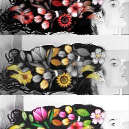 me hair hairs flowers creative echairart freetoedit