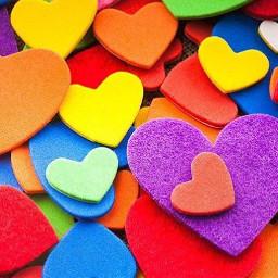 colorful hearts love rainbow colorsplash freetoedit
